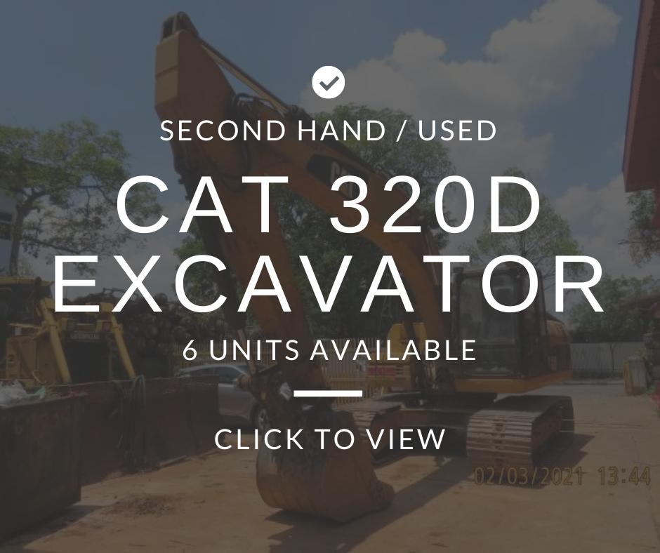 Used Excavators (CAT 320D) Sale